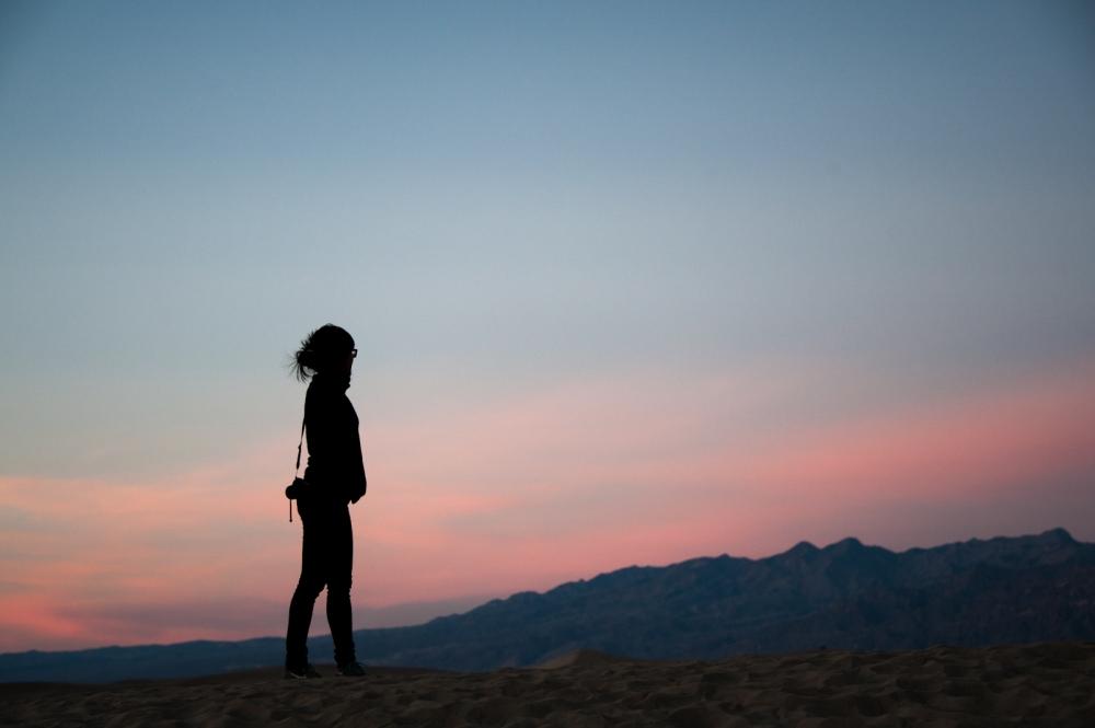 Mesquite Flat Sand Dunes Sunset